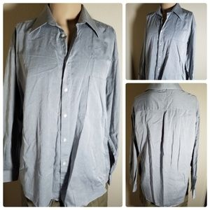 Claiborne Gray Long Sleeve Button Up Dress Shirt